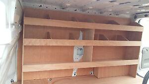RENAULT TRAFIC SWB Plywood Shelving DRIVER SIDE- FLAT PACK Van Racking, RACKING