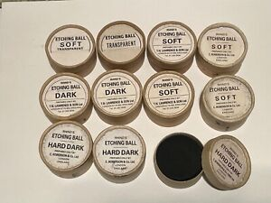 Rhinds Ground Etching Balls Hard Dark Soft Lawrence Collection of 11