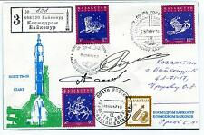 1971 Sojuz TM-26 Start Russian Rocket Space Cover SIGNED CCCP Russia