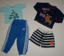 BABY BOYS AGE 12 MONTHS BUNDLE ADIDAS JOGGERS T-SHIRT LONG SLEEVED TOP AND SHORT
