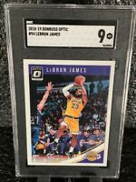 2018 Donruss Optic #94 LeBron James SGC 9 Mint