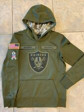 Nike Boys M Medium NFL Salute To Service Hoodie Sweatshirt Raiders