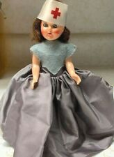 Vintage Plastic Molded Arts 'Pma' Marked Red Cross Hard Plastic Doll, With Stand