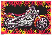 POSTER: MOTORBONES - SKELETON MOTORCYCLE - BLACKLIGHT  & FLOCKED-  #3268F RP61 D