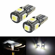 10x Ampoule LED T10 W5W 5 SMD Blanc Veilleuse Plaque Voiture Intérieur Extérieur