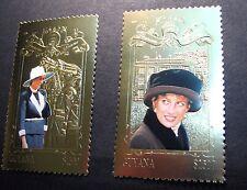 Guyana Souvenir Sheet Scott# 3313-14 Diana  1998   MNH L91