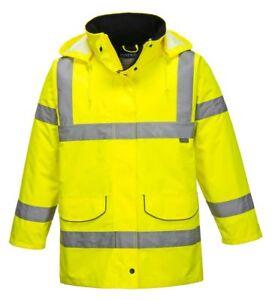 Portwest S360 Ladies Hi-Vis Safety Traffic Waterproof Bodywarmer Jacket Coat