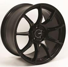 17x8 Enkei TS9 5x100 +45 Black Rims Fits Impreza Wrx Martix