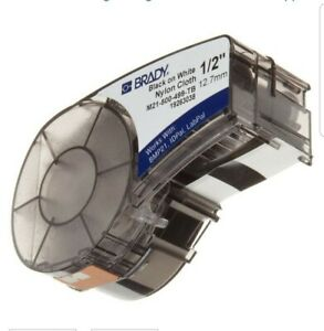 Brady BMP 21 Plus 1/2 Label Cartridge Black on White (SALE)