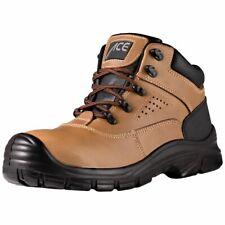 ACE Forester S1-P Arbeitsschuhe Leder Schuhe mit Stahlkappe Sicherheitsschuhe