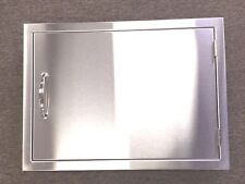 "USA 24x17 BBQ  STAINLESS STEEL SINGLE HORIZONTAL DOOR REVERSE HINGE 3/4"" LIP"