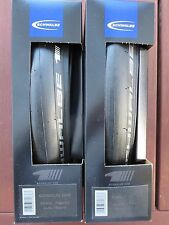 SCHWALBE ONE ROAD BIKE TYRES PAIR 700C 25MM ULTREMO ZX REPLACEMENT CLINCHER