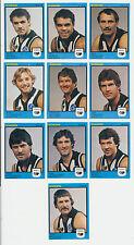 1982 Scanlens West Australian WAFL MINT Swan Districts Team set 10 cards