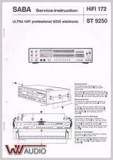 Saba ST 9250 Service Manual, Service Anleitung