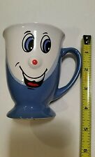 Blue Coffee Mug 3D Smiley Funny Face Coffee Cup with Red Nose by Gryphonware