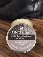 Leather Cream Conditioner Polish 100% Natural 100ml - for Bags, Shoes, Sofas etc