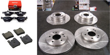 Mercedes-Benz CLK 1997-03 BRAKE DISC DRILLED GROOVED BRAKE DISCS PADS FRONT REAR