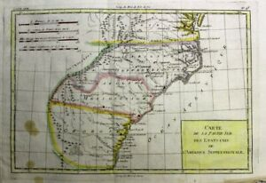 1781 Valuable Bonne Map of Early South East United States