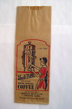 """1930's-40's Vintage """"Uncle Bill's Hotel Special Coffee"""" Bag - Great Graphics *"""