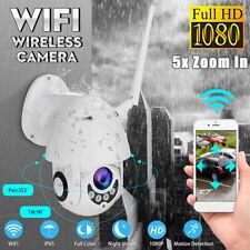5X Zoom HD 1080P Outdoor Camera Wireless CCTV WiFi Waterproof IP65 PTZ IR Cam