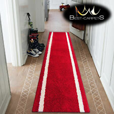 Modern Hall Runners WEDDING soft SHAGGY JAZZY LOCO red 67-100cm extra long RUGS