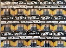 120 Duracell Coppertop AAA Alkaline Batteries 15 packs Exp 2025+ NEW SEALED