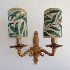 William Morris Willow Bough Handmade, Candle Clip Half Lampshade for Wall Light