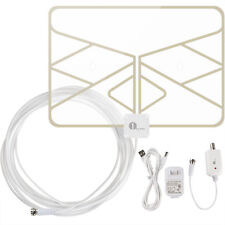 1byone Digital Indoor Amplified HDTV TV Antenna  20FT Coax Cable 50 Miles Window