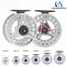 Maxcatch moulinet 1/2 2/3 3/4 5/6 7/8WT en aluminium argent fly fishing reel