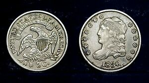 1830 - 5 cents, Half Dime,  USA   Capped Bust, XF
