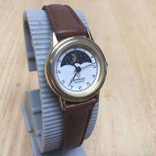 Vintage Armitron Lady Moon Phase Gold Tone Analog Quartz Watch Hours~New Battery