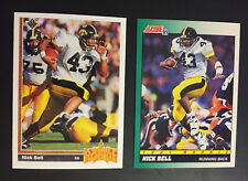 2 Card lot  Nick Bell Rookie RC 1991 Upper Deck #29 1991 Score #311 Raiders Iowa