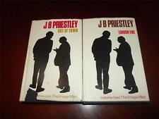 J B PRIESTLY JB  volume 1 & 2 THE IMAGE MEN~2 books~ OUT OF TOWN LONDON END HCDJ