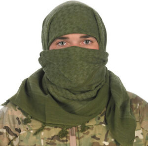Camcon Shemagh Desert Headwear Eye Protection Cotton Olive Scarf 61032