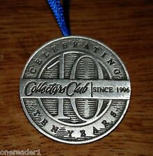 Longaberger Pewter Tie-On ~ Collectors Club 10th Anniversary tie on / Pin - New