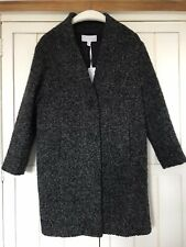 THE WHITE COMPANY Grey Short Boucle Coat, UK 6 (would fit 8-10), BNWT £259
