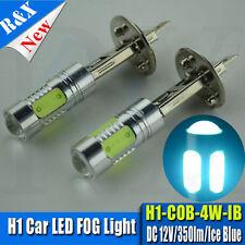 2 X H1 Led Fog light bulb DRL Lamp Globes COB 7.5W Projectors AC 12V Ice Blue
