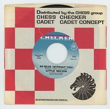 Little Milton 1969 Checker 45rpm So Blue (Without You) b/w Poor Man Northern XO