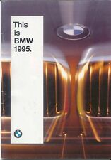 BMW Range 3 Series 5 Series 8 Series 7 Series M3 M5 1994-95 Original UK Brochure