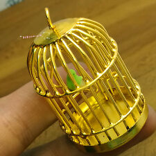 Dollhouse Miniature 1:12 Toy A Metal Golden Bird Cage Height 4.5cm JC34