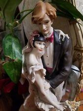 Giuseppe Armani Wedding On Balcony Bride and Groom - Retired Figurine -