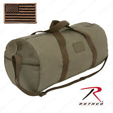 Rothco Two-Tone Shoulder Duffle With Loop Field - Includes FREE US Flag Patch