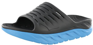 MENS HOKA ONE ONE Ora Recovery Slide Ebony Dresden Blue Sandals Slides