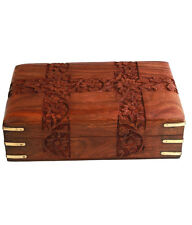 Beautiful Big Wooden Designer Carved Multipurpose Jewellery box Gift Item