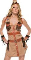 Womens Wild West Cowgirl Western Cowboy Sheriff Fancy Dress Costume All Sizes