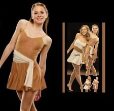 Aurora Borealis Dance Costume TAN with Ivory Sash Ballet Tap Dress Child X-Small