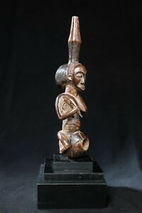 Luba, Female Ancestor Sculpture, D.R. Congo, Central African Tribal Arts