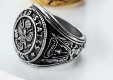 United States Army Ring Silvertone Stainless Steel Size 11 - Ships from USA