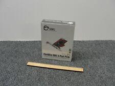 SIIG NN-E38012-S2 FireWire 800 3-Port PCIe -NIB, Sealed-