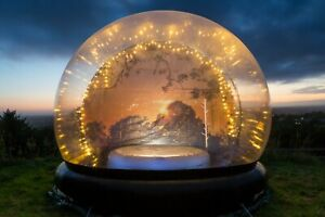 4m Human Globe Stargazing Bubble Dome for Hot Tub Hire / Sleepover Business